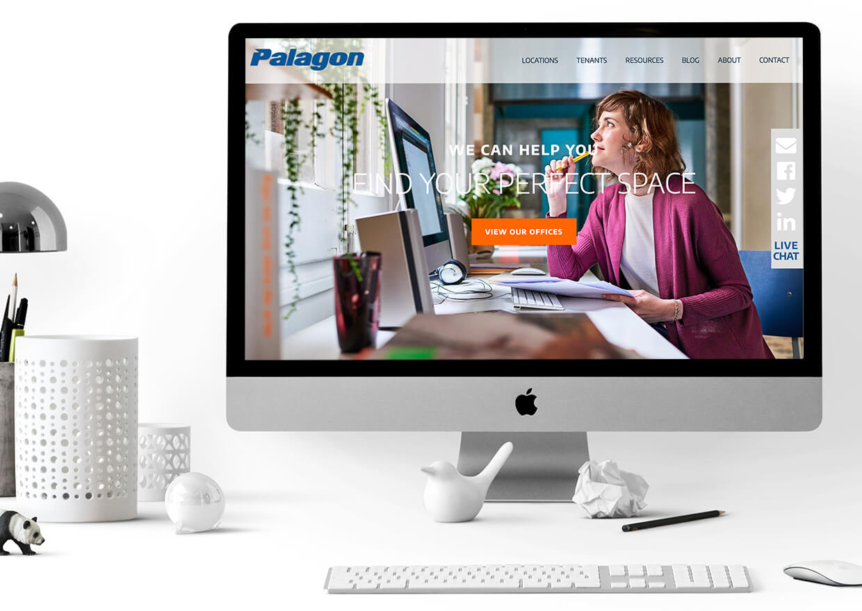 Palagons custom built Copperhead Creative website loading on a 27
